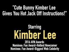 Cute Bunny Kimber Lee Gives You Hot Jack Off Instructions! Thumb
