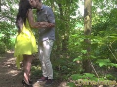 Dane Jones Blowjob and outdoor sex in a summer dress and kitchen quickie Thumb