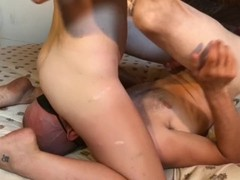 Prostate massage handjob leads to huge femdom self facial. Thumb