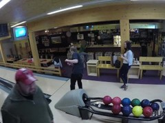 HUNT4K. Cuckold allows guy please his cute GF right in bowling club Thumb