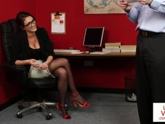 CFNM office voyeur enjoys wanking session Thumb