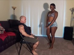 Ebony step daughter lap dance Thumb