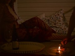 Romantic Candle Date with Curly Redhead MILF - Mutual Handjob Double Orgasm Thumb
