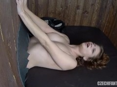 Tied Girls Waiting on Your Cock in Glory Holes Thumb