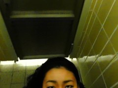 Public toilet blowjob by naughty asian girl Thumb