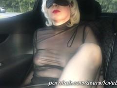 Public hard masturbation of milf near a busy road - wet pussy Thumb