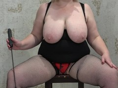 mature bbw with big tits anal with toy Thumb