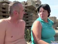 EXTREM OLD GERMAN MATURE SEDUCE TO FUCK OUTDOOR BY STRANGER Thumb