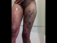 Beautiful Ebony Squirting Everywhere && The Shower Thumb