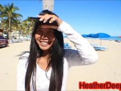Ft Lauderdale Florida Alissa Avni aka Alissa Jayde gets taught Creamthroating by Thai Teen Heather D Thumb