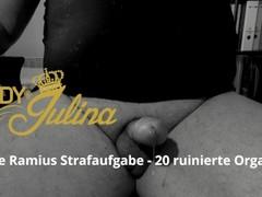 Sklave Ramius Strafaufgabe - 20 ruinierte Orgasmen und Sperma fressen Thumb