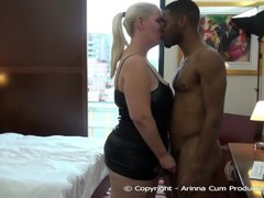 BBC Darrell Deep goes straight for Stepmom Arinna Cum ass Thumb
