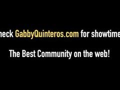 Lucky Peeping Tom Fucks MexiMilf Gabby Quinteros! Thumb
