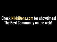 Penthouse Pet Nikki Benz Crams Her Wet Cunt With Big Cock! Thumb