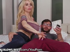 MommyBlowsBest HUGE TITS Mommy Loves Sucking Off Stepson! Thumb