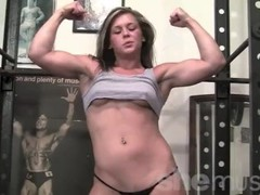 Flexible Teen Fitness Model Gets Naked in Gym Thumb