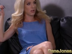 Dane Jones Sexy Hungarian blonde Monique Woods rides reverse cowgirl Thumb