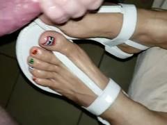 Cum on feet Thumb