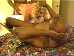 Wife being fucked hard by two black men in motel Thumb