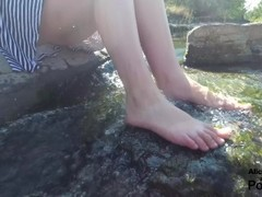[4K] Outdoor Blowjob and Cumshot by the River Thumb