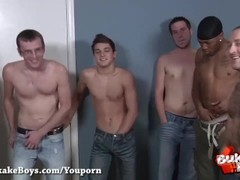 Huge Bareback Bukkake Party for Sexy dyde - Bukkake Boys Thumb