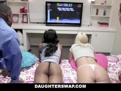 DaughterSwap - Gamer Nerds Fuck Each Others Dads Thumb