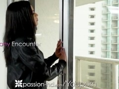 PASSION-HD Balcony POUNDING with DEEP creampie overload Thumb