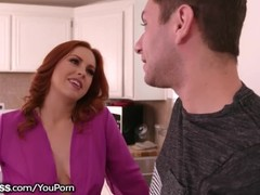 BlowPass Ex-Stripper Redhead Stepmom Blows Son! Thumb