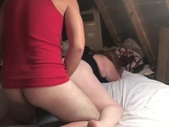 Anal: Red head gf gets lubed up and her ass pounded Thumb