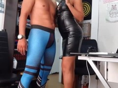 Couple in office spandex Thumb