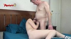 Horny Old Camera Man Makes Young Model Cum Then Has Sex With Her Thumb