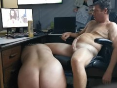 Handjob & prostate massage while at work. Thumb