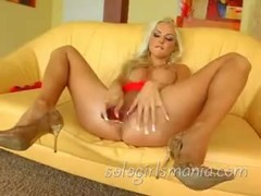 SOLOGIRLSMANIA Super hot Blonde Veronika Simon Solo Orgasm Thumb