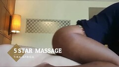 AFRICAN HIGH CLASS MASSAGE FOR VIP- RANDY JOHNSON CREAMPIES HER TIGHT PUSSY Thumb