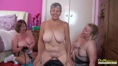 OldNannY Busty British Mature Lesbian Masturbation Thumb