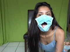 Covid 19 Glory Hole Masked Blowjob during Quarantine (Oral Creampie) Thumb
