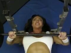 Asian guy fuck FBB Brandi Mae in the Gym Thumb