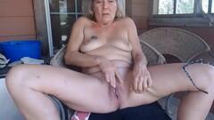 grandmother blonde masturbate her vagina. Thumb