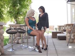 Lingerie lesbians Darcie Dolce & Savannah Stevens titty play and stuff their snatches Thumb