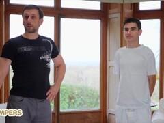Lil Humpers - Perv Lil Masseuse Jordi Makes Love With big tit MILF Tina Kay Thumb